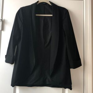 Banana Republic Open Casual Black Blazer